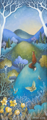 The Fading Moon - original acrylic painting on canvas by Amanda Clark
