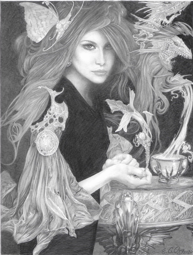 The Witch - original drawing by Ed Org