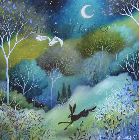 The Chase - original acrylic painting on canvas by Amanda Clark