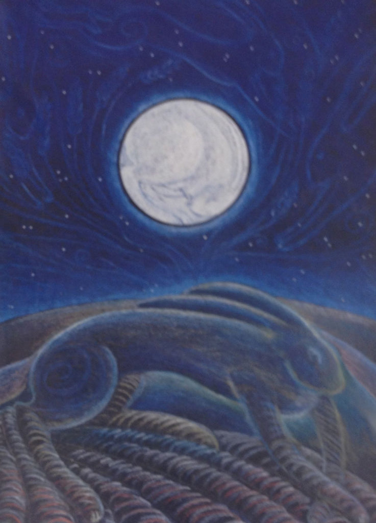 The Hare in the Moon by Hannah Willow