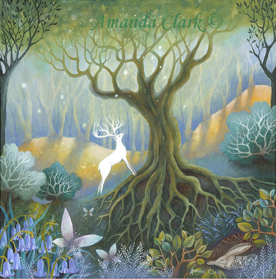 The Wishing Tree - original acrylic painting on canvas by Amanda Clark