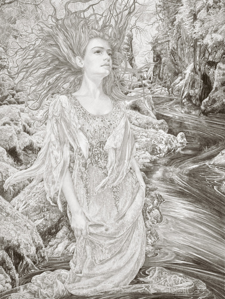 The Faerie Glen - Original Drawing by Ed Org