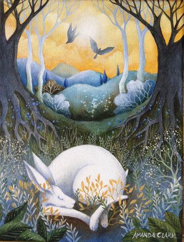 Time to Awaken - original acrylic painting on canvas by Amanda Clark