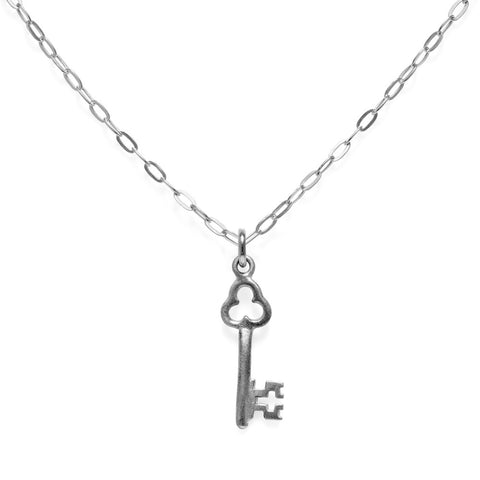 "Trinket Key Necklace Silver 18"" by Julia Thompson"