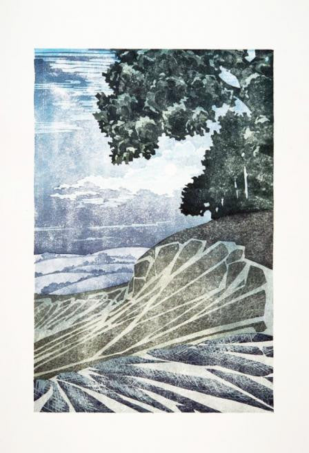 Chalk Plough, Moonlight by Laura Boswell