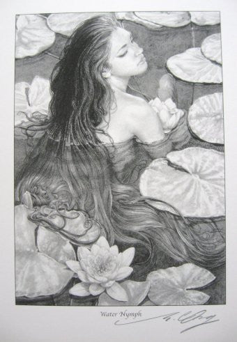 Water Nymph - Reproduction Print Signed by Ed Org