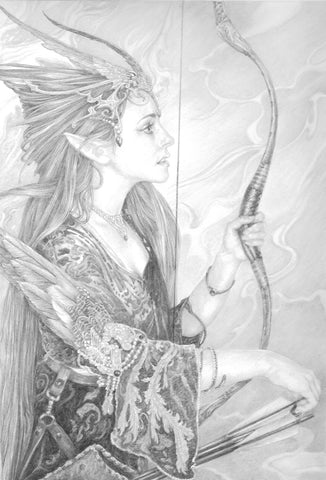 Wind Archer - Original Drawing by Ed Org