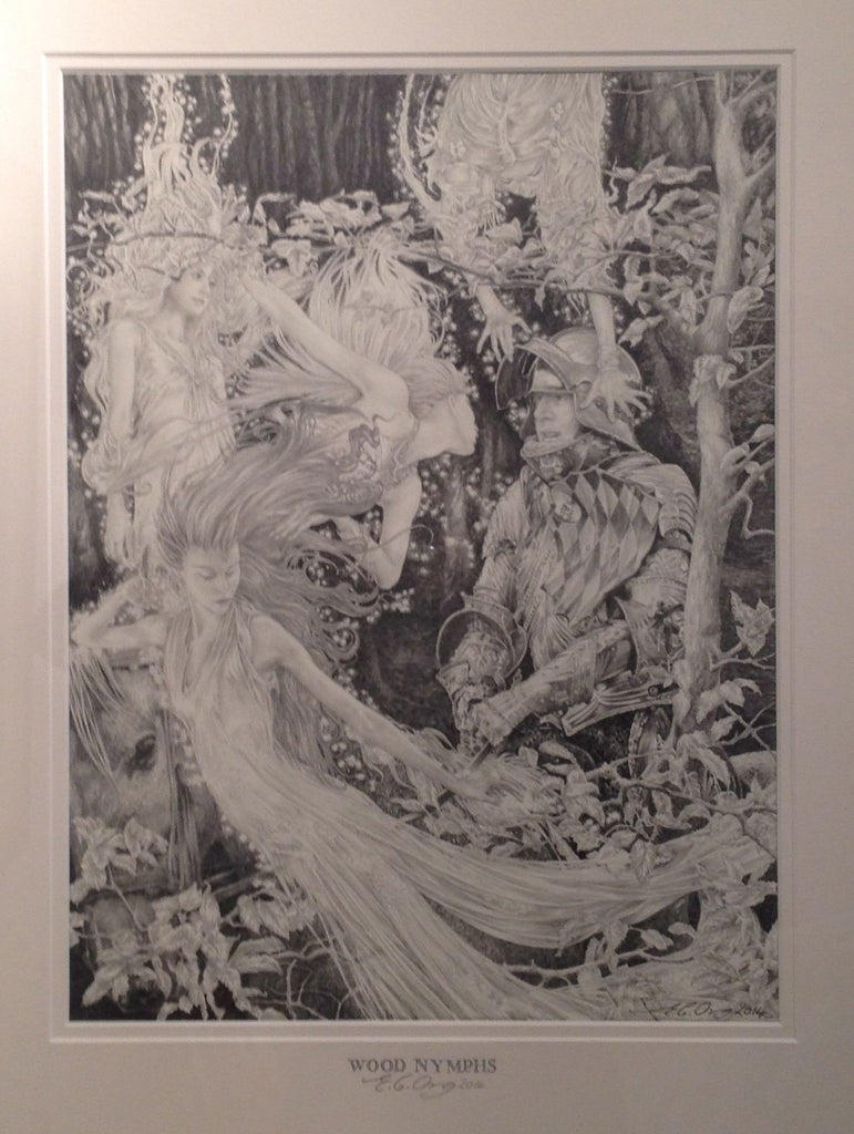 Wood Nymphs (original drawing) by Ed Org
