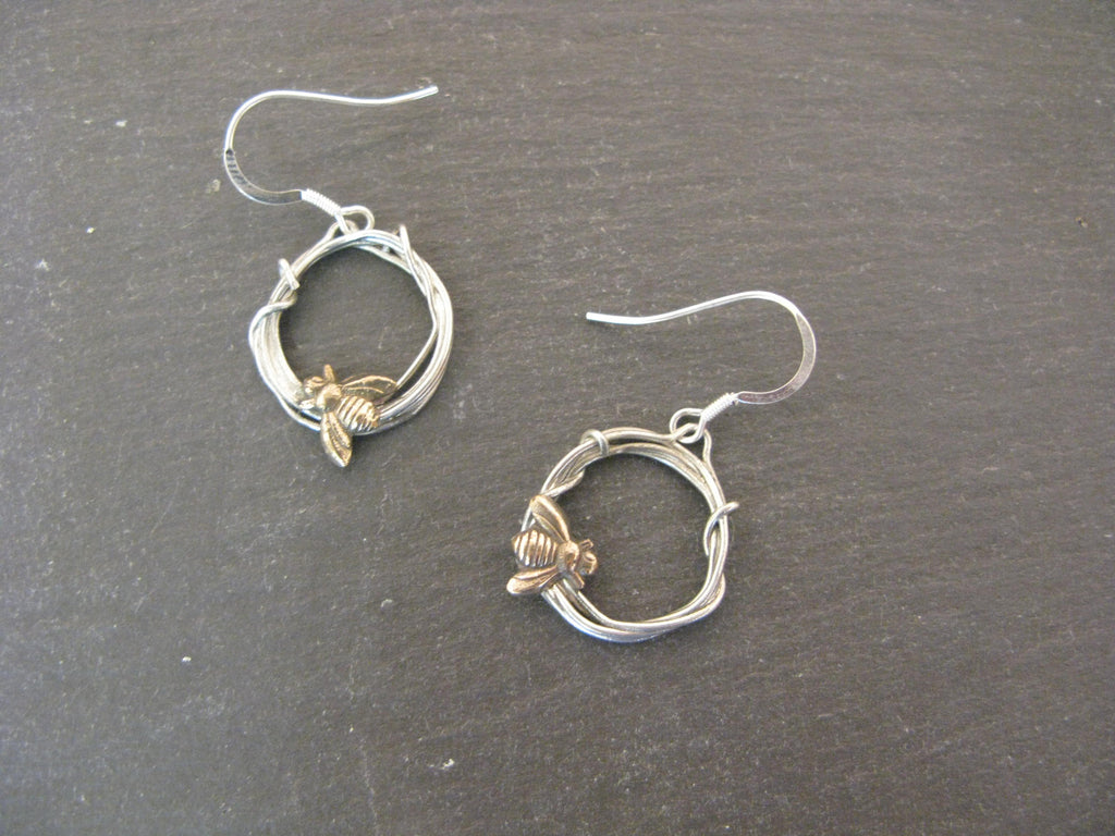 Woodland Bee Earrings by Xuella Arnold