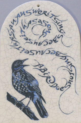 "Arch Bird Tile ""A Bird Does Not Sing"""