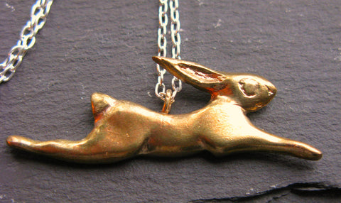 Bronze Hare Necklace