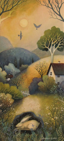 Calm of The Day - original acrylic painting on canvas by Amanda Clark