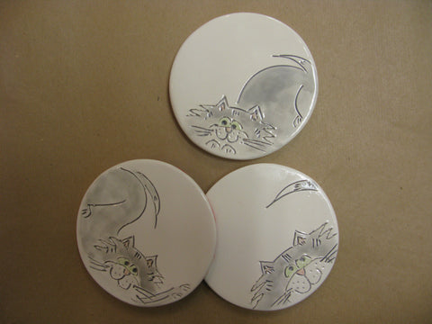 Cat Coasters by Stephanie Beasley