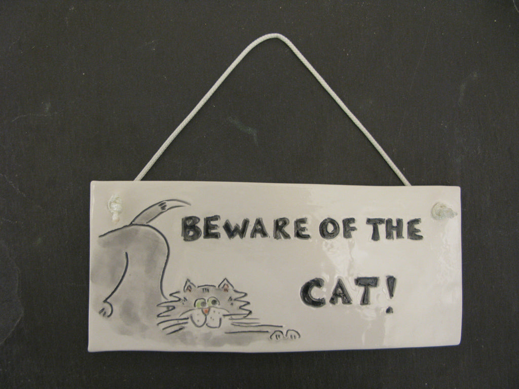 Cat Plaque by Stephanie Beasley