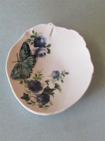 Butterfly Floral Trinket Dish