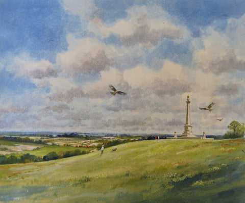 Coombe Hill (2019) - watercolour by Colin Tuffrey