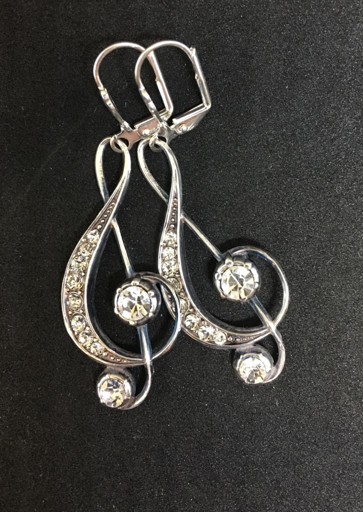 Jess Lelong Diamante Earrings