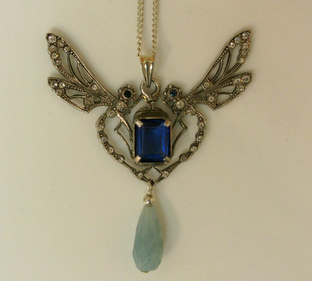 Double Dragonfly Necklace by Jess Lelong