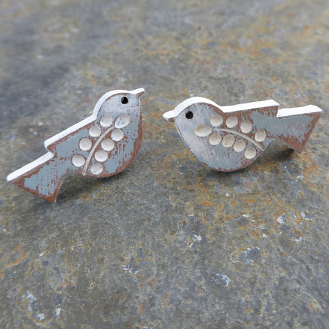 Songbird Earrings - Duck Egg colouring