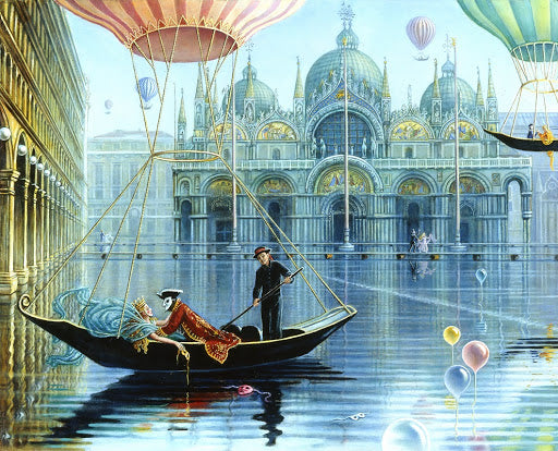 Fight of the Gondolas - Signed Limited Edition Print by Brigid Marlin