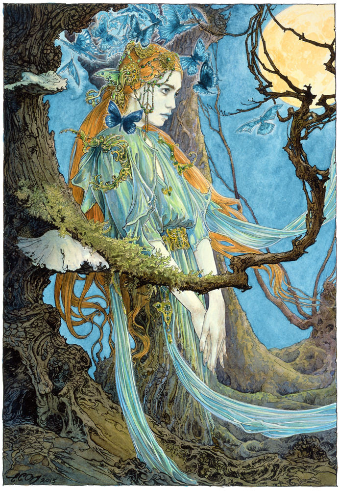 The Forest Dryad - signed limited edition print by Ed Org