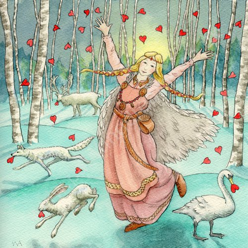 Freya Spreading the Love by Wendy Andrew