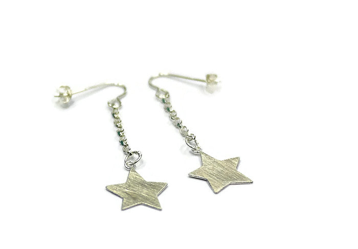 full star drop earrings