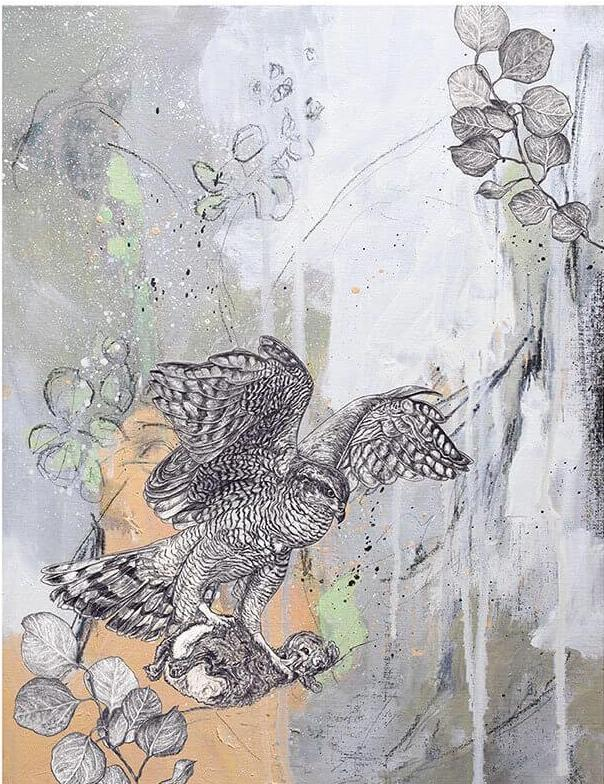 Giclee Print of a Goshawk by Sky Siouki