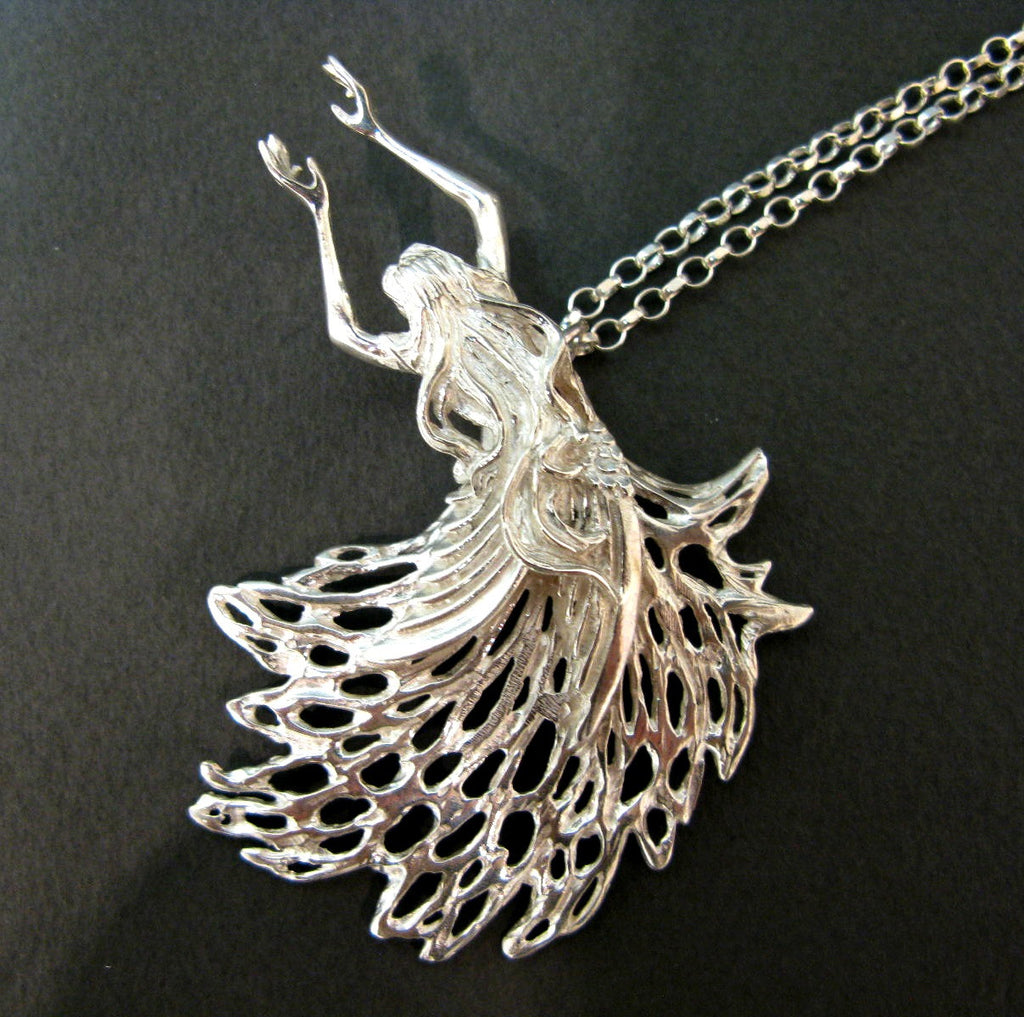 Guardian Angel Pendant - Sterling Silver Jewellery by Elena Brennan