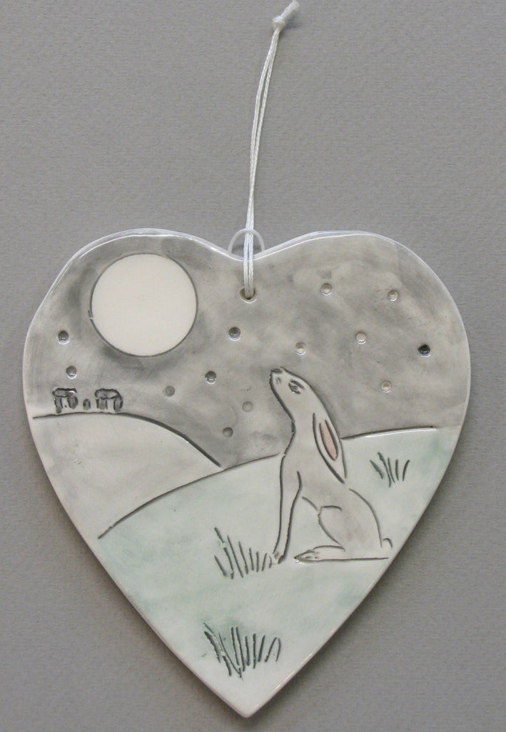 Hanging Hare and Moon Decoration