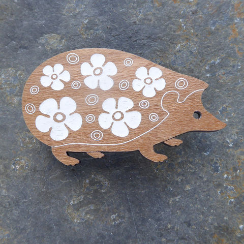 Hedgehog Brooch by Sarah Kelly