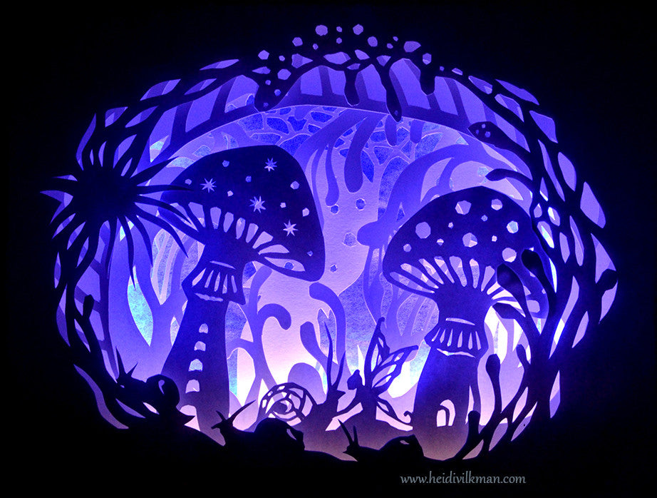Hidden Forest - 3d paper-cut by Heidi Vilkman