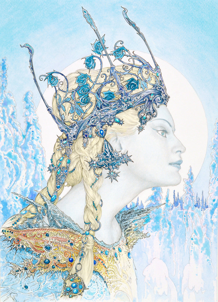 Ice Maiden - Original Watercolour Painting