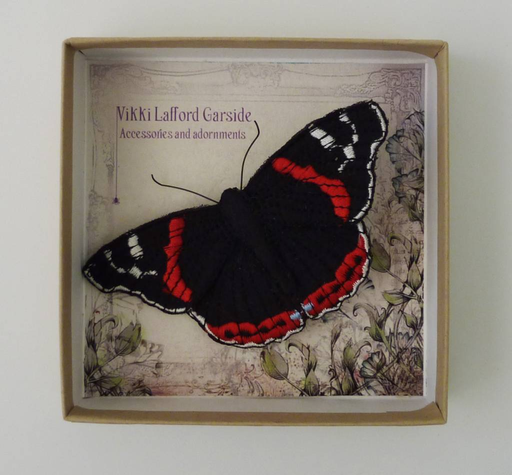 Red Admiral Butterfly by Vikki Lafford Garside