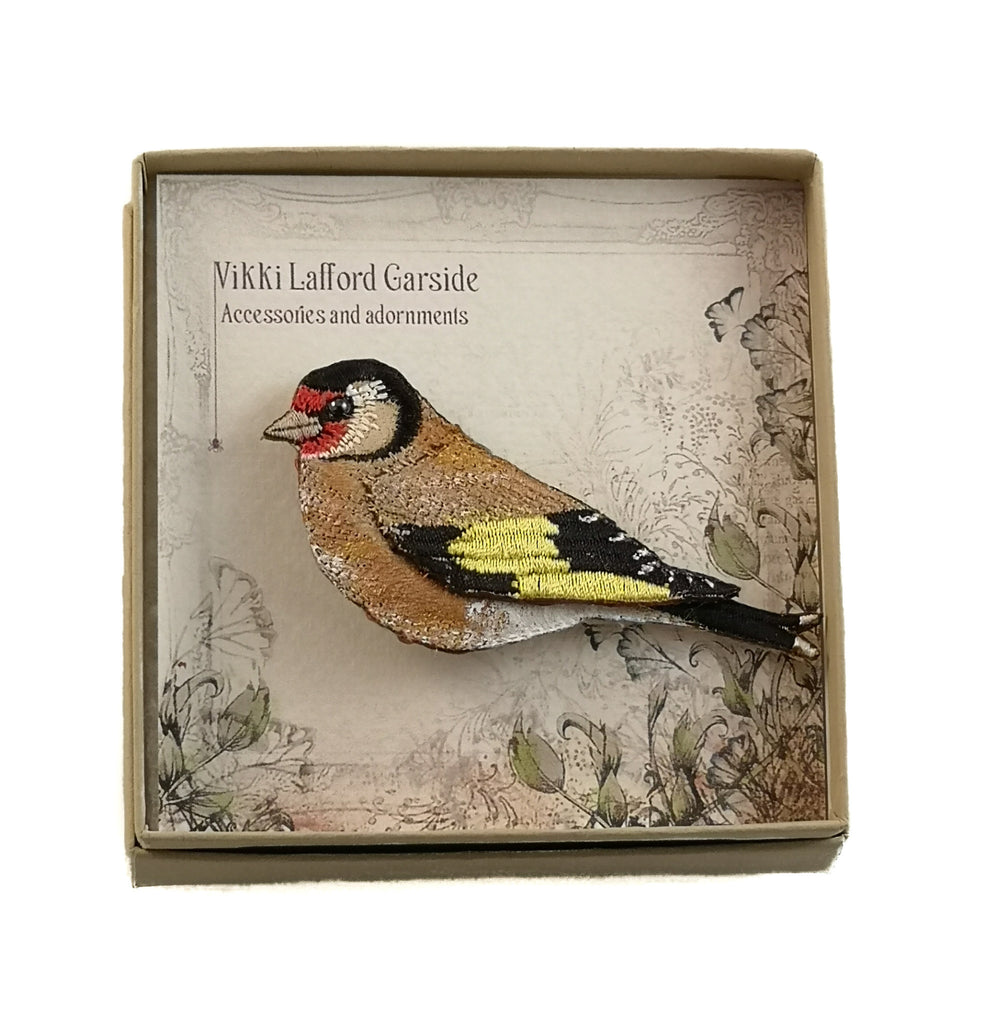 Goldfinch Brooch by Vikki Lafford Garside