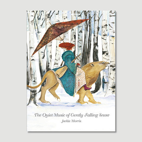 The Quiet Music of Gently Falling Snow - book written & illustrated by Jackie Morris - SIGNED EDITION!!!!