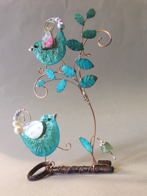 Hand crafted assemblage by Linda Lovatt