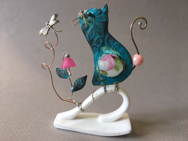 Small Cat on a Key by Linda Lovatt
