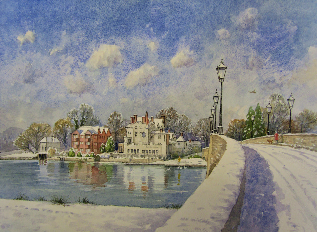 'Maidenhead River Thames' - watercolour by Colin Tuffrey