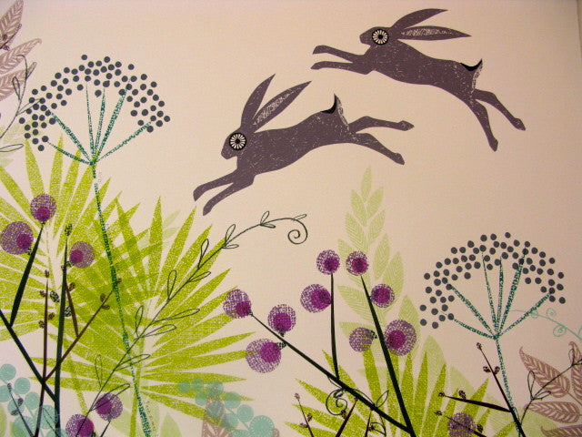 March Hares in Mid June by Jane Ormes