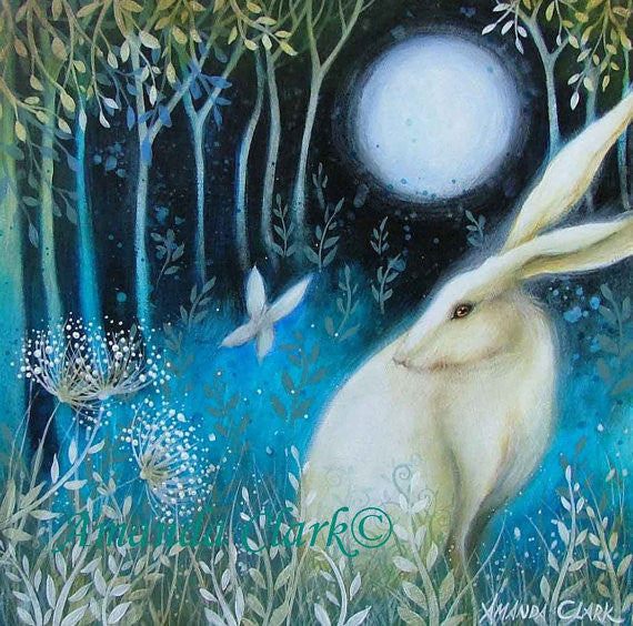 Wonderful, hand embellished with gold leaf, open edition print by Amanda Clark.