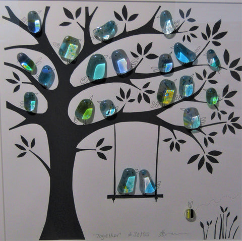 Together - Fused Glass and Illustration