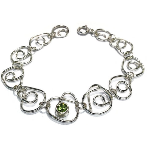 Peridot bracelet by Abby Filer