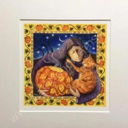 Pumpkin Wise Woman Print by Wendy Andrew