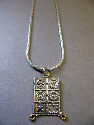 Oxidised Rectangle Pendant