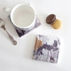 Red Footed Falcon Stone Tile Coaster by Sky Siouki