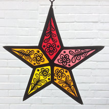 Stained Glass Red Star