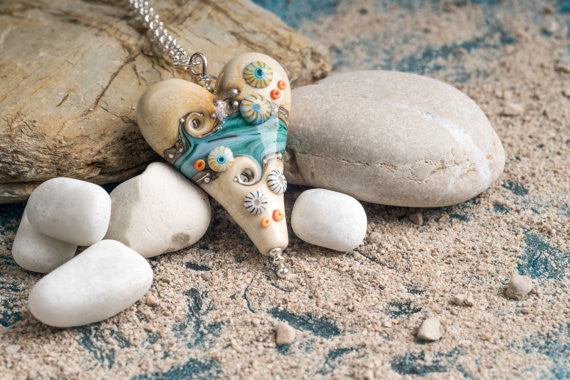 Sand and Sea Long Pendant - Julie Fountain