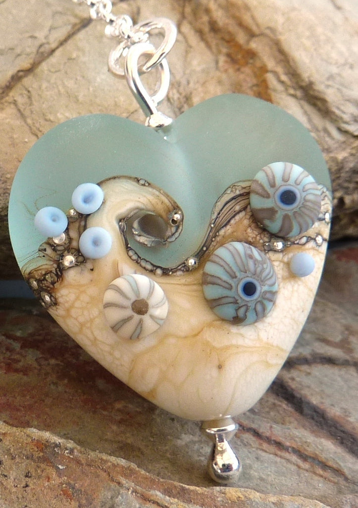 Sea Spray Heart Pendant by Julie Fountain