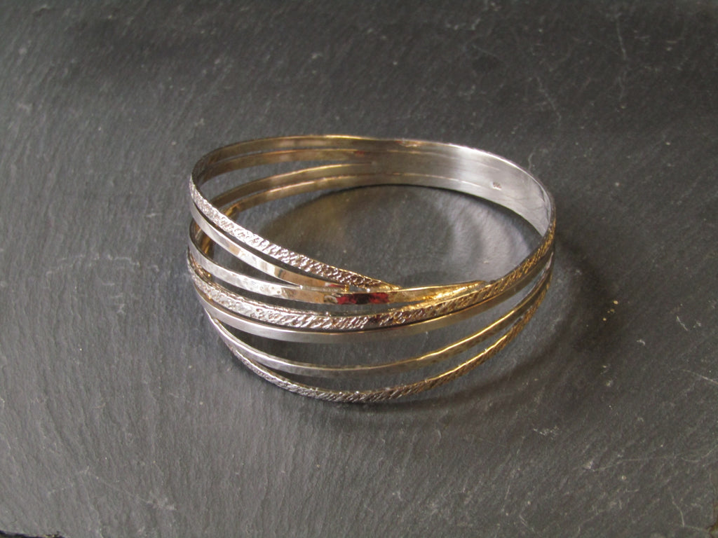 Silver Bangle by Chris Lewis
